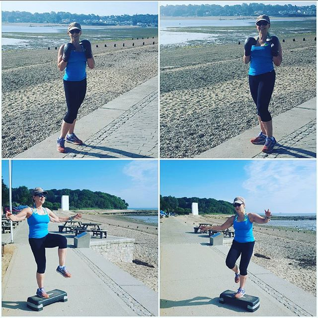 An early morning workout on the beach gives a positive and uplifting start to the day. HIIT 121 personal training with boxing, squats and lunges engaging the core and glutes throughout.