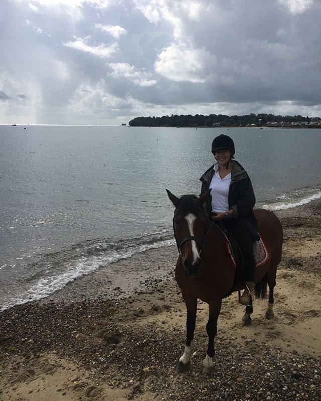 Horseriding on the beach before a late breakfast and dogwalk