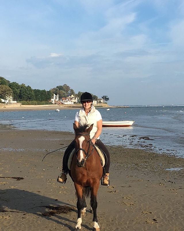 Horseriding along the beach this morning whilst we still had a brief reminder of Summer weather again