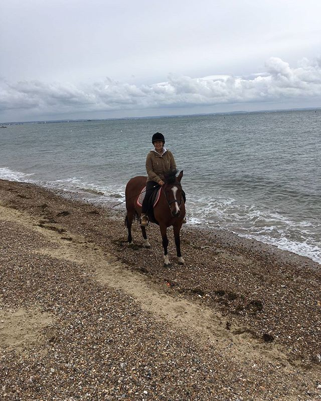 Riding on the beach this morning
