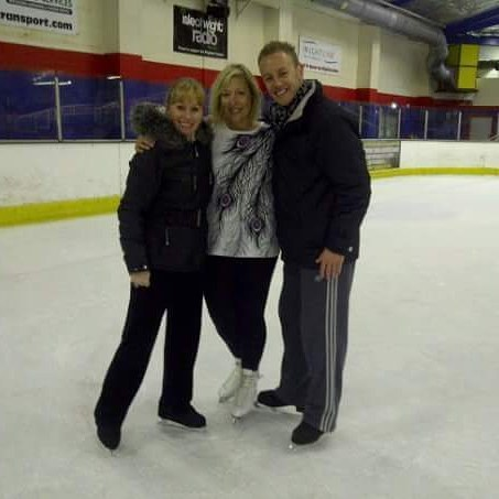 @dancingonice Me skatng a few years ago in Isle of Wight with @thedanwhiston .  Such a lovely man!  This was when a few of the Dancing on Ice skaters came to teach a weeks workshop on the
