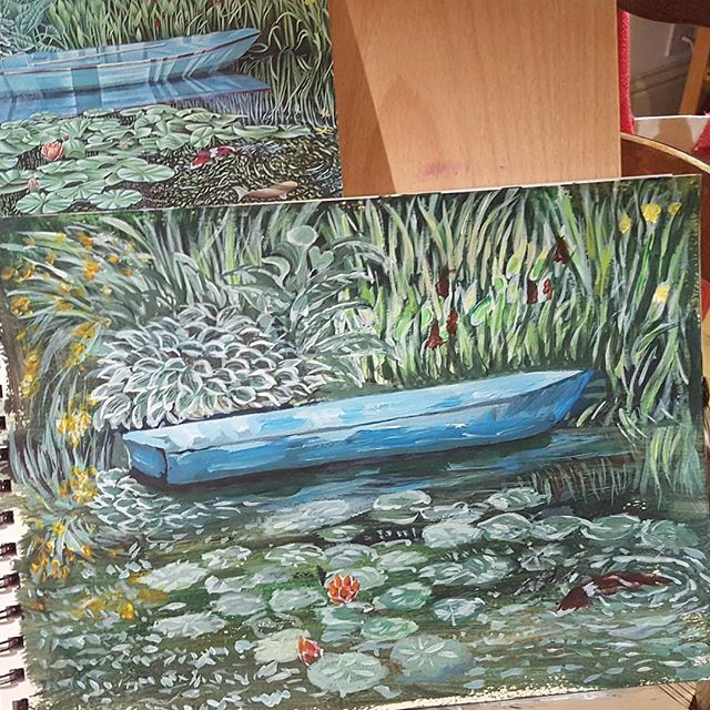 2nd acrylic paints artwork on my rest and recuperation weekend With thanks to Monet for the inspo.