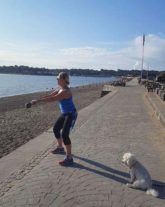 Bring on Summer!  Missing my training last Summer by the beach. Back to the exercise studio today for a barrecore class.  @misslucy_lou the bichonXwestie is missing the beach too.  I try to do some type of exercise and training at least 4 days a week together with a healthy eating regime. Pilates for core and glute  strength especially and overall body alignment. Boxing for HIIT. Barre class for core glutes and toning. Abd if no time for anything else a short brisk walk.