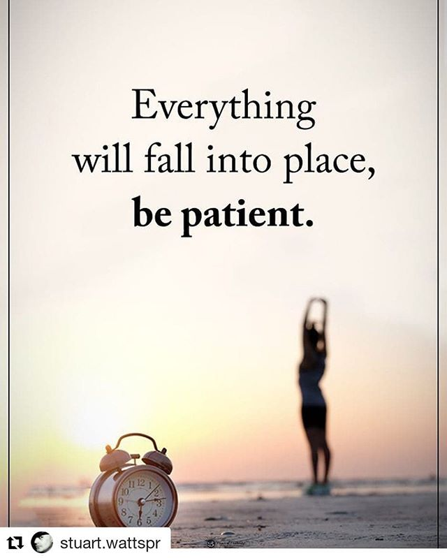 Sometimes it's hard to be patient when nothing seems to be happening for you. But hang in there, everything will fall into place when the time is right.