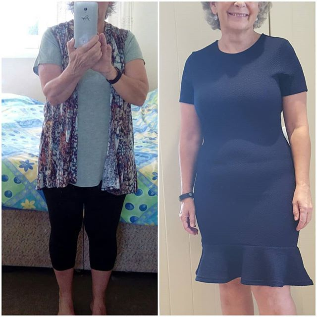 A client wardrobe makeover.  This client was 5'2 tall and needed smart day to evening outfits to wear. This is one of the before and after pix. Everything she had in her wardrobe was baggy and worn to be layered to hide her body shape. I want my clients to be proud of their bodies and wear clothes that flatter making them feel and look their best.