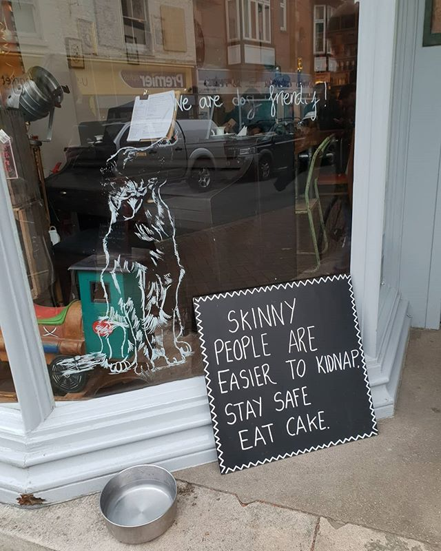 Seen in a cafe window ! Your thoughts?......