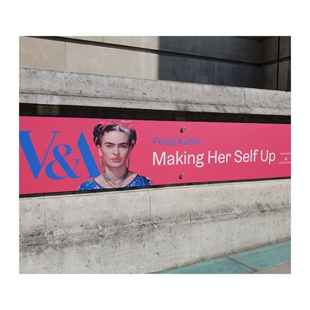 Excited for the press preview of Frida Kahlo exhibition at the V&A. . . . . .