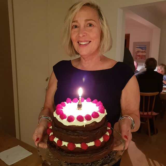 My birthday cake!  And lobster dinner. . . . . . .