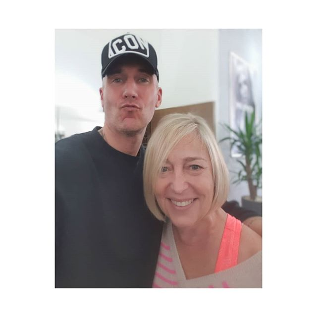 My favourite talented and creative hairdresser Andy @andyatagency who does good selfie pouts and me- his smiley happy client!  He has the best long arms for selfies too! Blondeness by nearly-new-mum-to-be Colourist supreme @chanelnott earlier in the week.  Thank you to you both. Xxxx  Ready now for a busy worklife September with lifestyle, image and lifechange clients,  And talks in schools on body image, social media, mental health, bullying and self-confidence. . . . . . . #self-confidence