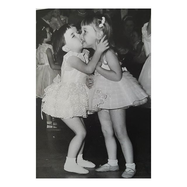 A Happy Birthday to me back in the day!  That's me age 5 years old on the right receiving an enthusiastic Birthday hug and kiss!  Hugs and kisses are so important whatever age you are even if it's not your birthday. . . . . . . .