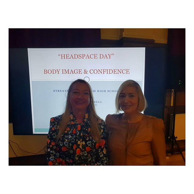 @schsgdst  After my Body Image and Confidence school talk to 500 girls age 11-17 this morning at Streatham & Clapham High school for girls. With the deputy headmistress and head of pastoral care Gillian Cross. What a welcoming and inspirational school for young women who would like to make their future individual mark on the world. . . . . .