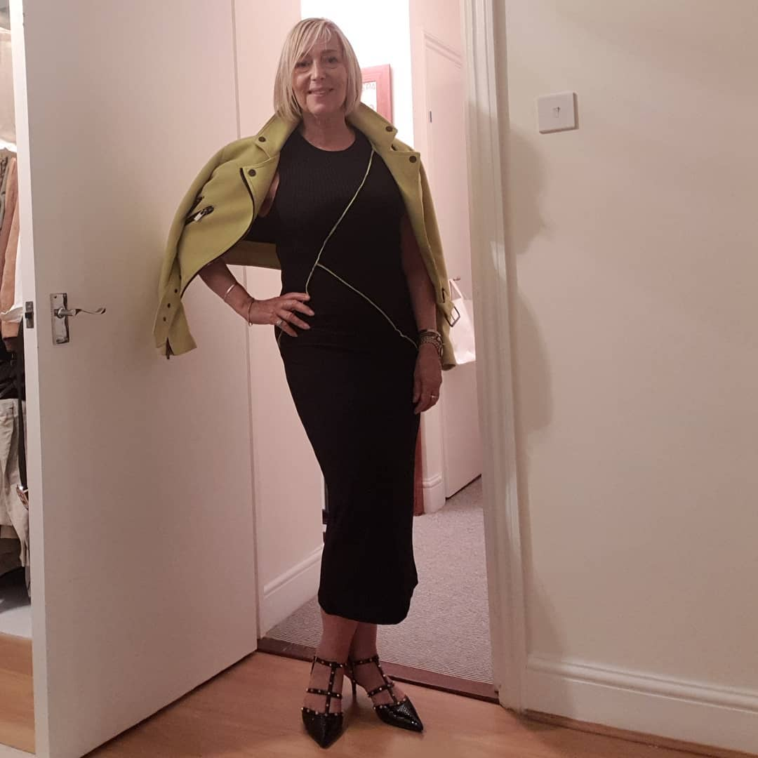 Good morning Monday. Here's to a great week. . I'm wearing: Zara dress (this season £19)! And  Debenhams Jacket (2018) John Lewis Valentino Rockstud look-alike shoes (2018) Whole outfit under £100  . Btw... To all who look at others' Instaposts wishing that your life is as glamorous, colourful, fun, full of socialising and excitement -  Most people's are not, Including my own. . I'm not out every night, nor am I at the gym everyday. . My posts are simply the parts of my life that I hope are interesting. . I hope to inspire with lifestyle tips of fashion, style, fitness, nutrition, health and beauty as a 64 year old woman with no filters or editing to show that you can be active, fit and enjoy life to the full whatever age you are. . . . . .