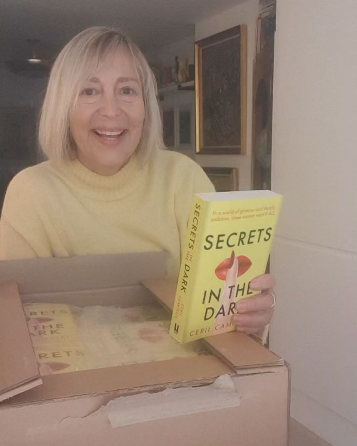 Secrets in the Dark  My debut novel  Unboxed  Paperback and audible book publishing day July 8th 2021  Available now to pre-order and already available on kindle to buy.  . .        @headlinebooks